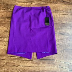 Escada size 16(46) purple silk blend tube skirt